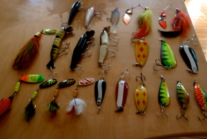 A collection of popular northern pike lures - but not limited to.