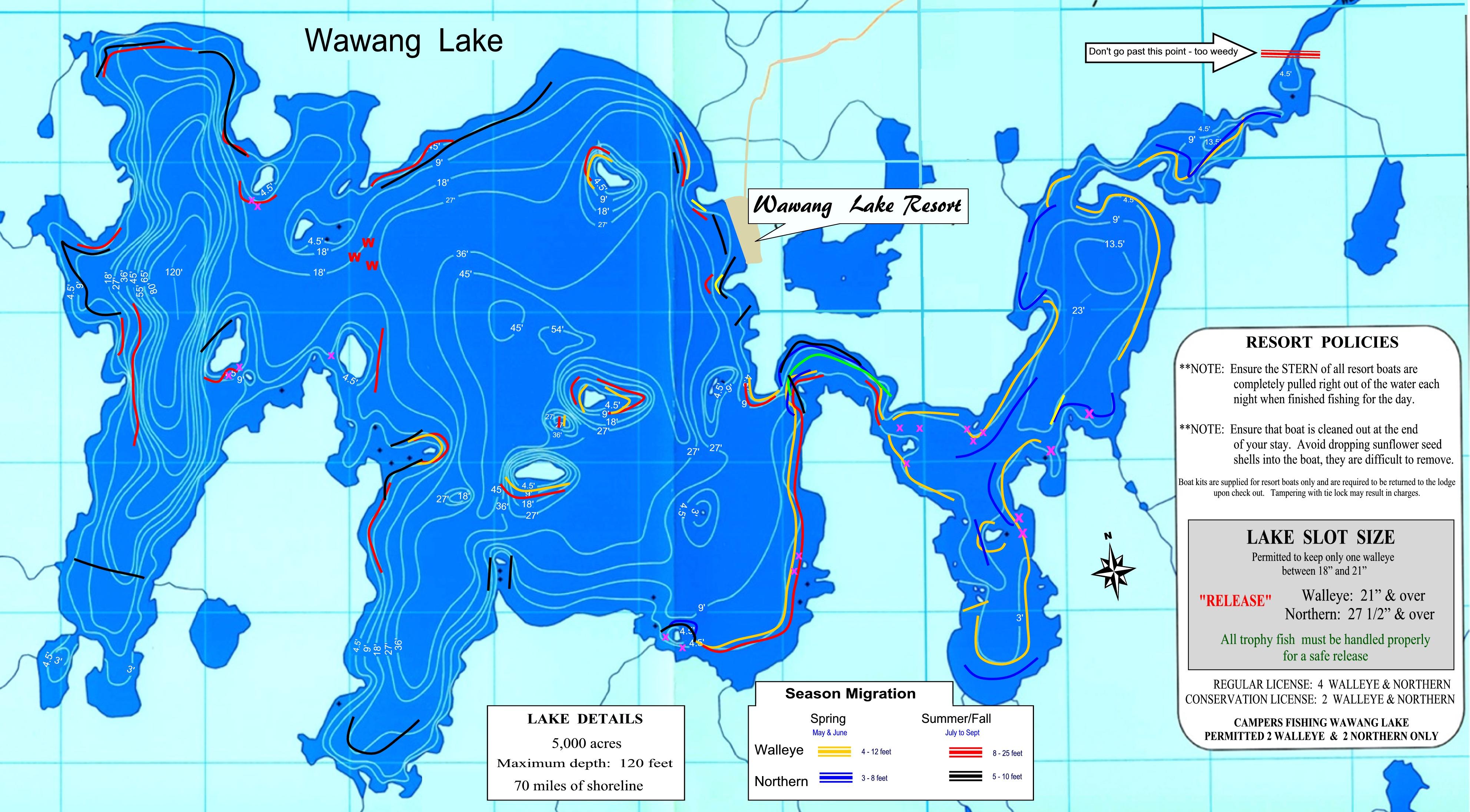 How to catch trophy walleye wawang lake resort new wawang lake map2 2 nvjuhfo Images