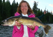 "See girls can fun and fish too - a nice 28"" walleye"