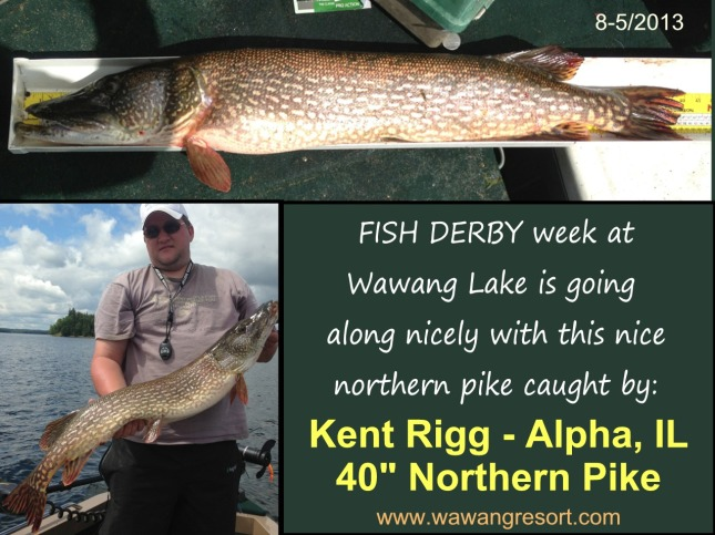Kent is presently holding 2nd place on the second last day of the fish derby.