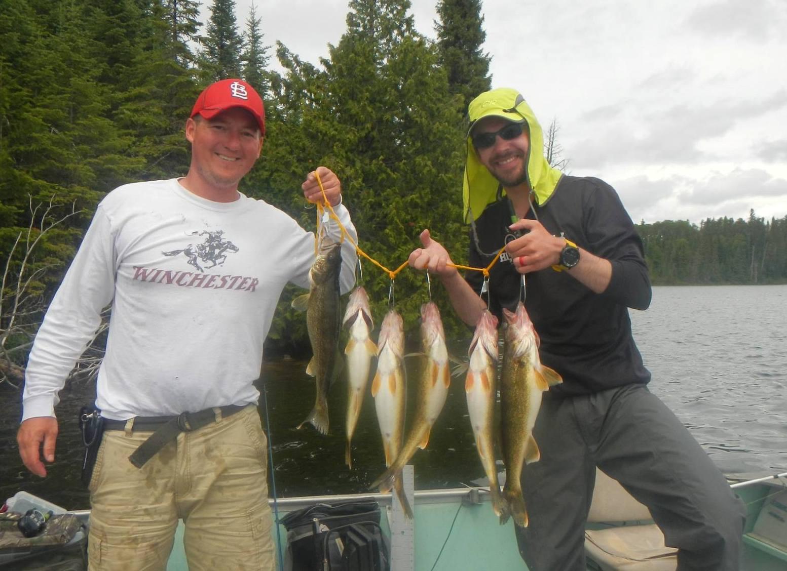 Walleye live bait rigging wawang lake resort for Best fishing line for walleye